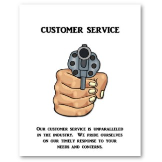 our customer service is unparalleled poster